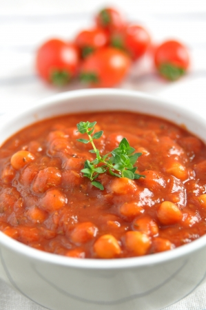 Italian Tomato Soup with beans photo