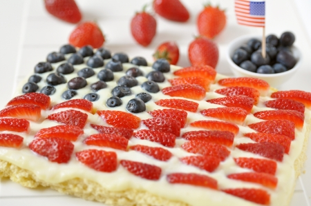 4th of July Berry Cake Stock Photo - 19396017