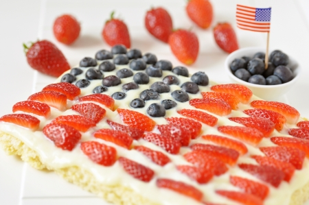 4th of July Berry Cake Stock Photo - 19395974
