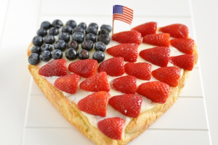 4th of July Berry Cake Stock Photo - 19395945