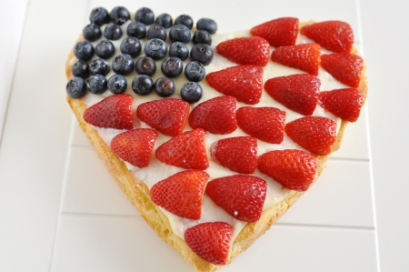 4th of July Berry Cake Stock Photo - 19395967