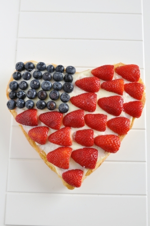 4th of July Berry Cake Stock Photo - 19395949