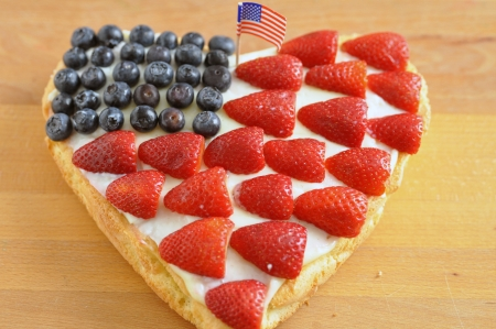 4th of July Berry Cake Stock Photo - 19396019