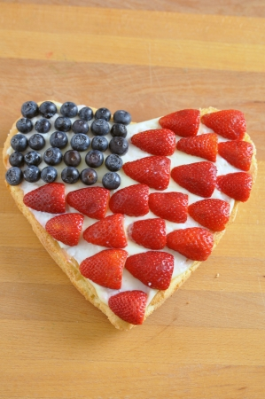 4th of July Berry Cake Stock Photo - 19396018