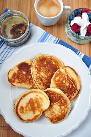 Pancakes with cinnamon butter photo