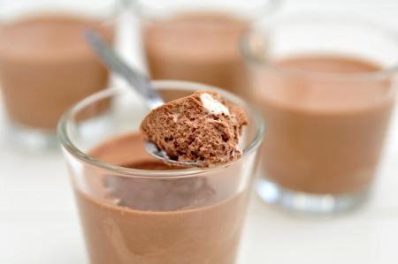 Mousse au Chocolat Standard-Bild
