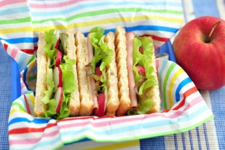 Sandwich in einer Lunchbox Standard-Bild - 19712469