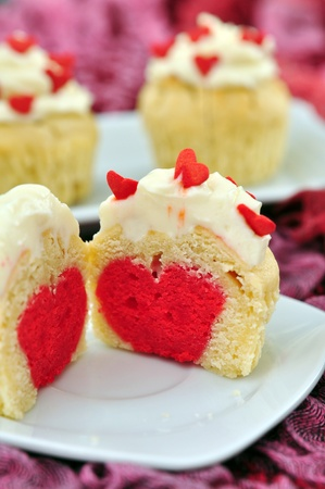 afternoon fancy cake: Valentines Cupcakes