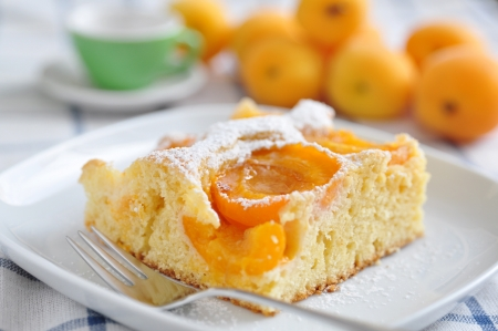 orange slices: Home made german apricot cake