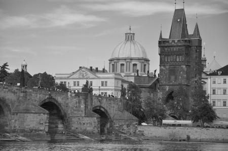 Charles Bridge in Prague, Czech Republic, Eastern Europe  photo