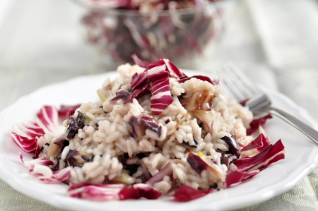 Radicchio Risotto Stock Photo