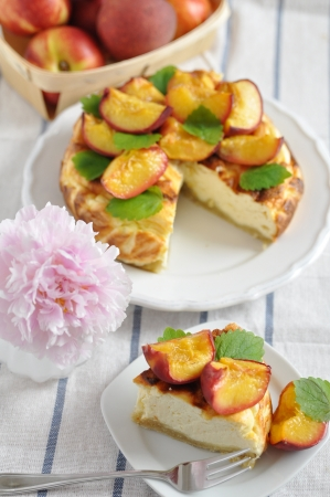 Peach Cheesecake photo