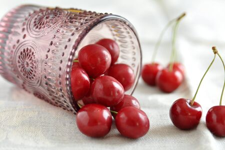 Fresh Ripe Cherries photo