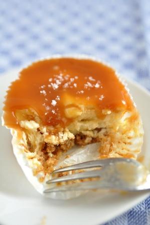 sel: Caramel Cheesecake Muffins with fleur de sal