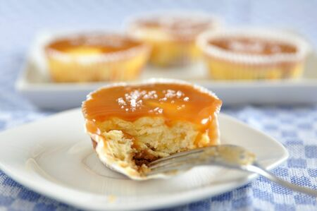 Caramel Cheesecake Muffins with fleur de sal photo