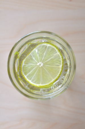lime slice: Water with Lemon Stock Photo