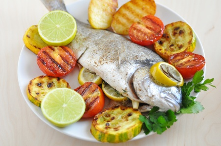 gilthead: Grilled Gilthead Seabream with Vegetables