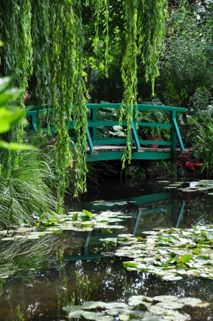 monet: View of the Garden of Claude Monet in Giverny, France Stock Photo