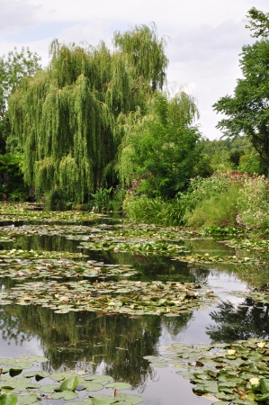 View of the Garden of Claude Monet in Giverny, France Stock Photo