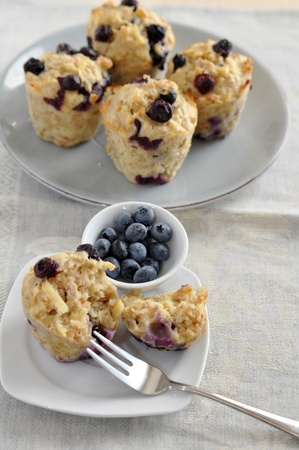 Blueberry Oatmeal Muffins Stock Photo - 21514379