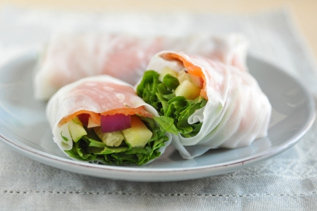 Vietnamese Spring Rolls with Salmon photo