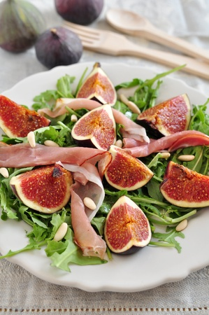 Salad with figs photo