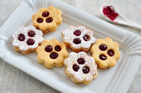 Linzer Cookies Stock Photo - 21691369