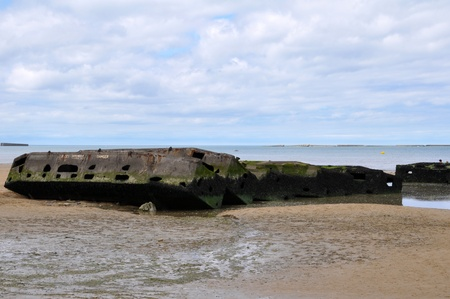 basse normandy: Beach of Arromanches in France  DDay Landing Beach