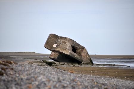 seconda guerra mondiale: Tedesco seconda guerra mondiale Bunker in Baie de Somme, in Francia