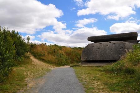 manche: German artillery battery near Saint-Marcouf, D�partement Manche, northwest of Utah Beach  Infantry shelter  Stock Photo