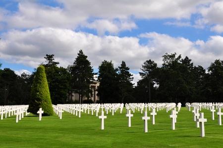 Omaha Beach Cemetery, Normandy, France Standard-Bild