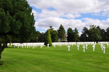 omaha: Omaha Beach Cemetery, Normandy, France Stock Photo