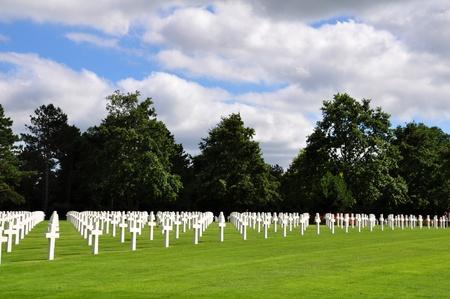 Omaha Beach Cemetery, Normandy, France photo