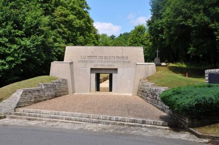 meuse: Memorial  Tranch�e des Baionnettes   bayonet trench  at the Verdun battlefield  department Meuse, France