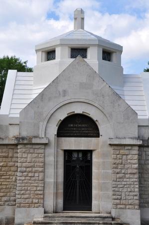 meuse: Church of the destroyed village Louvemont-C�te-du-Poivre at the Verdun battlefield  department Meuse, France