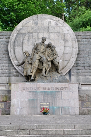 meuse: Monument of André Maginot at the Verdun battlefield  department Meuse, France