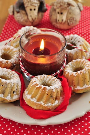 Small Gugelhupf Cake for Christmas photo