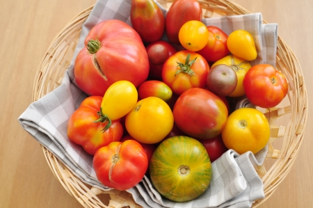 Ripe Tomatoes from the farmers market photo