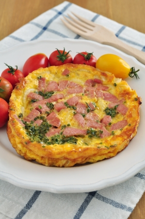 Omelette with ham photo