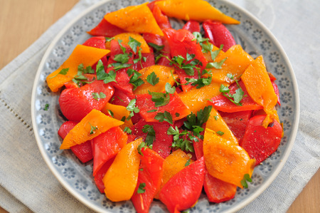 Salad with roasted peppers photo