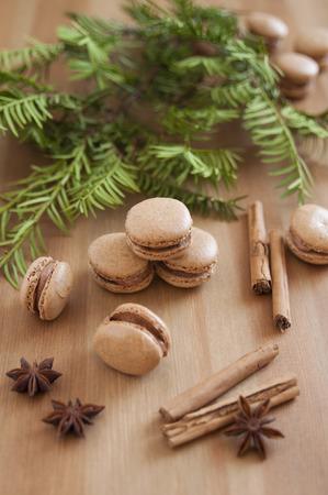 Gingerbread Macarons Stock Photo - 23138034