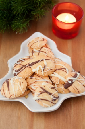 Christmas Cookies with anis Stock Photo - 24140709
