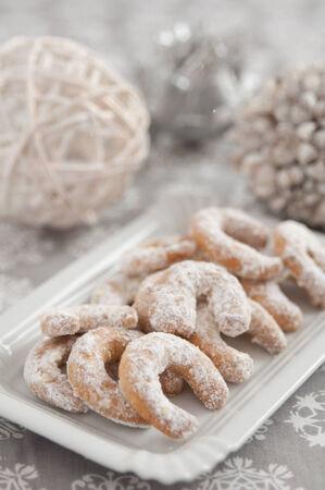 German Vanille Kipferl Christmas Cookies Stock Photo - 24592423