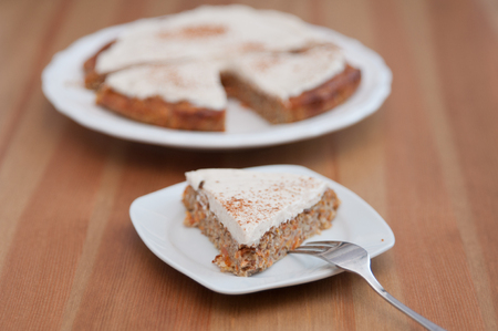 Carrot Cake with cinnamon cream cheese frosting photo