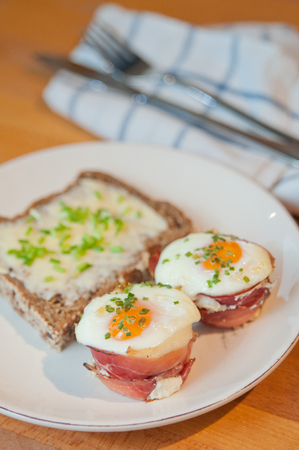 attested: Ham and Eggs Cupcakes