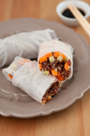 vietnamese spring rolls with quinoa photo