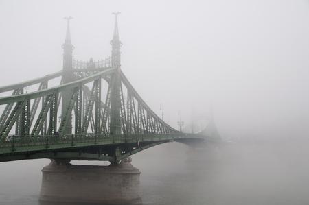 Liberty Bridge in Budapest, Hungary