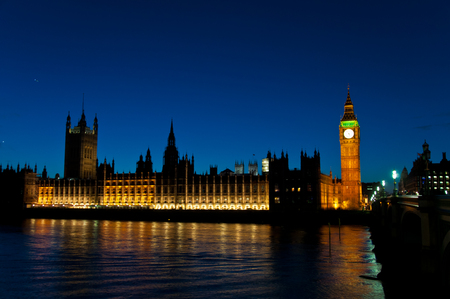 Big Ben in London, UK at night photo