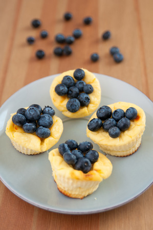Cheesecake Muffins with blueberries photo