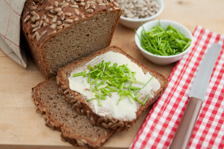 Home baked rye bread photo